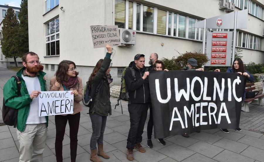 Protesty w obronie Ameera Alkhawlany\'ego