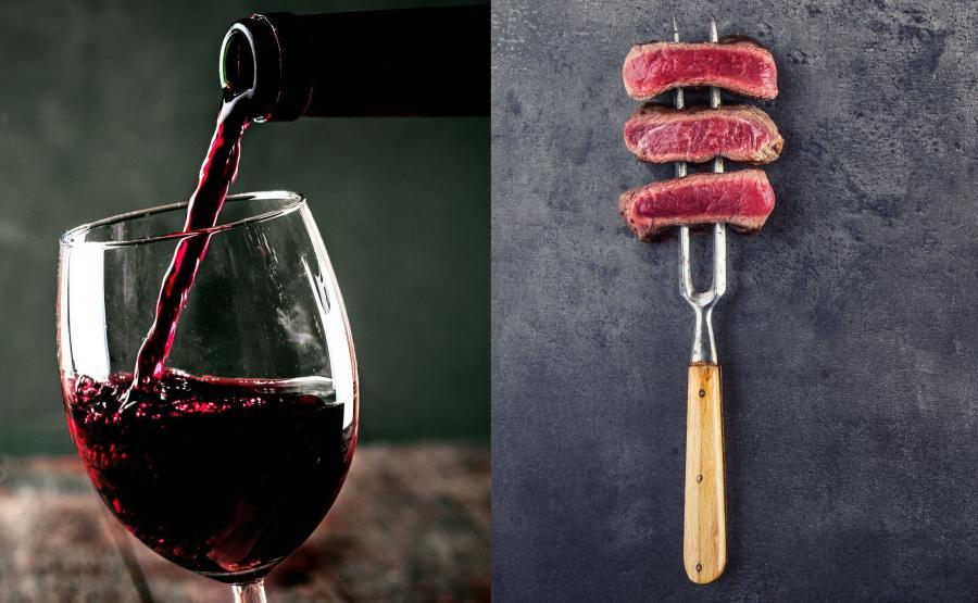 Stek z winem