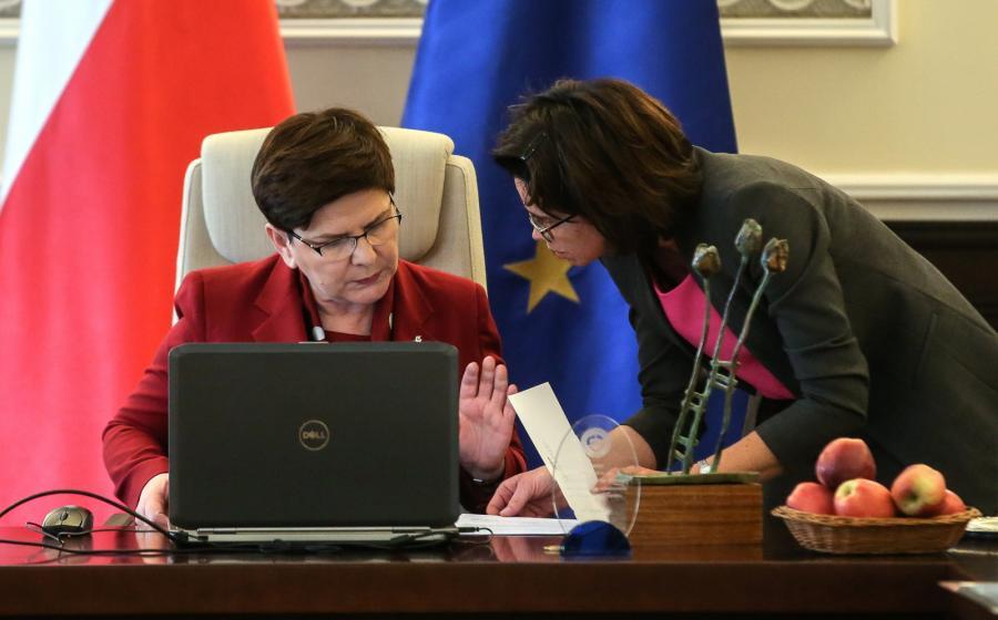 Beata Szydło i Anna Streżyńska
