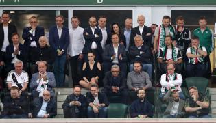 Loża VIP na stadionie Legii podczas meczu z Lechem
