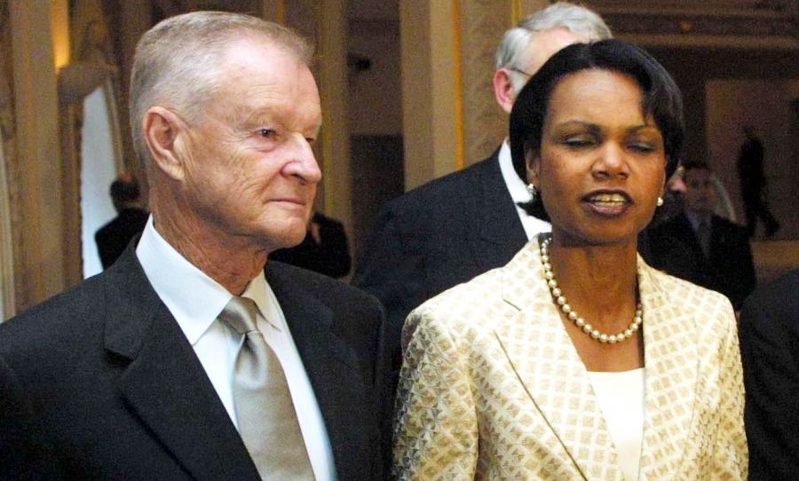 Zbigniew Brzeziński i Condoleezza Rice
