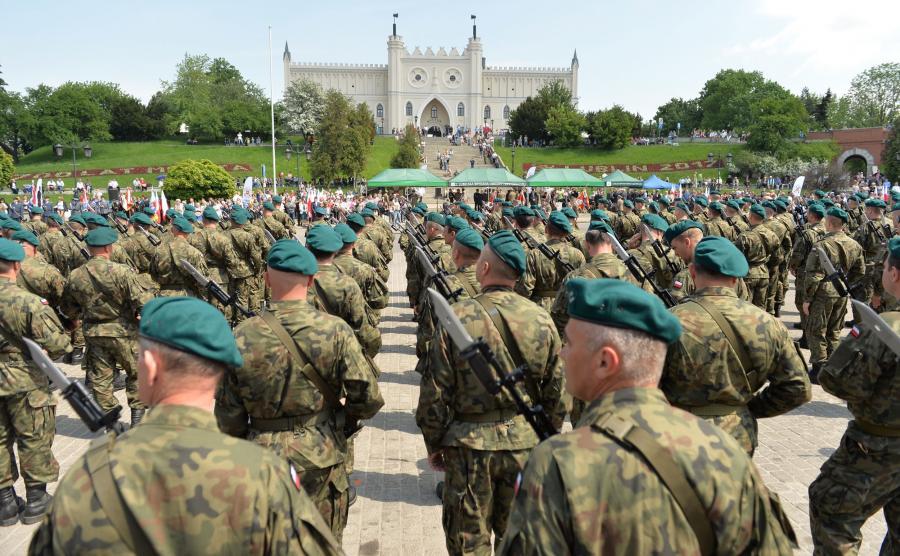 Przysięga żołnierzy Wojsk Obrony Terytorialnej