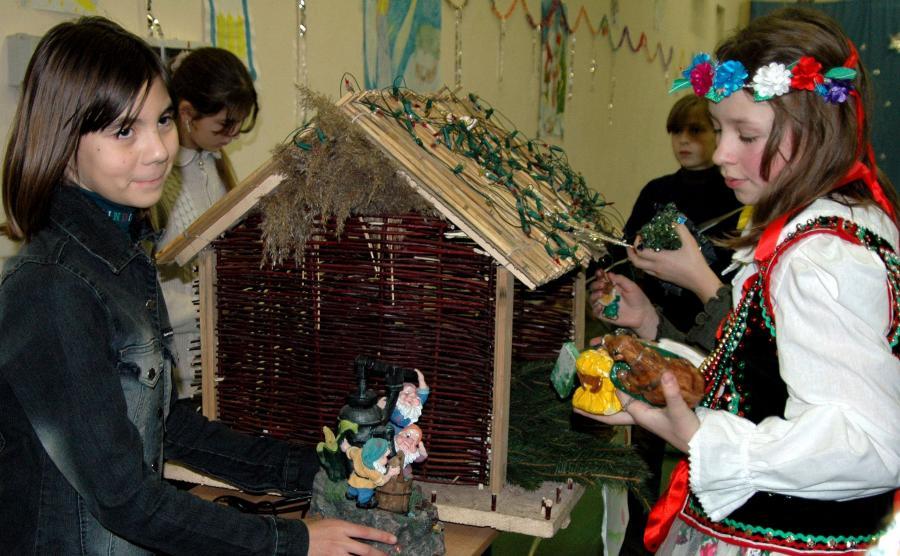 Dzieci z polskiej szkoły w Mościskach