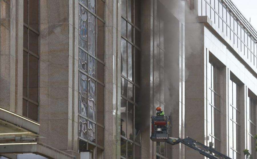 Pożar w hotelu