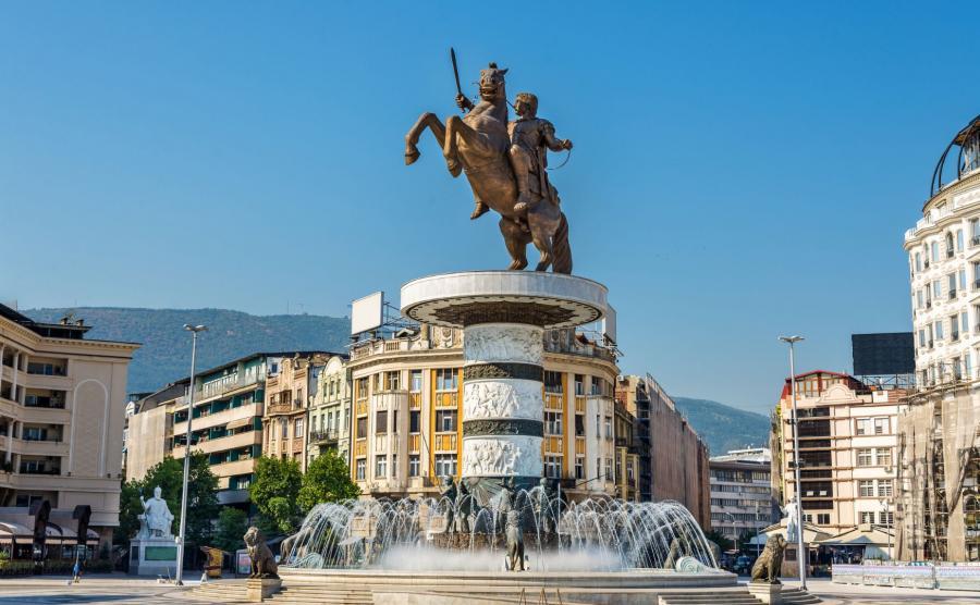 Skopje, Macedonia - pomnik Aleksandra Wielkiego