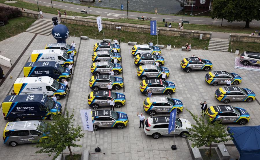 Hyundai przekazał flotę samochodów do obsługi 74. Tour de Pologne