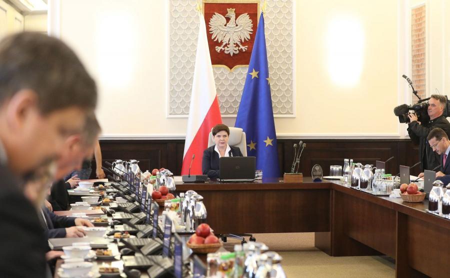 Posiedzenie rządu Beaty Szydło