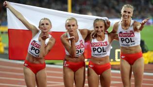 Małgorzata Hołub, Iga Baumgart, Aleksandra Gaworska i Justyna Święty
