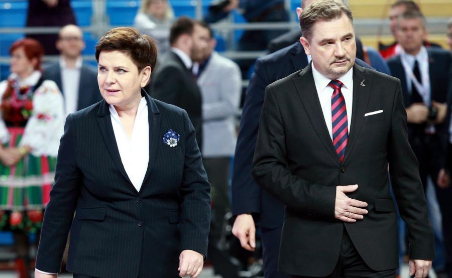Premier Beata Szydło i przewodniczący NSZZ \