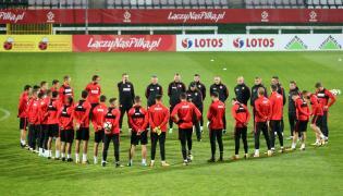 Piłkarze reprezentacji Polski podczas treningu w Warszawie