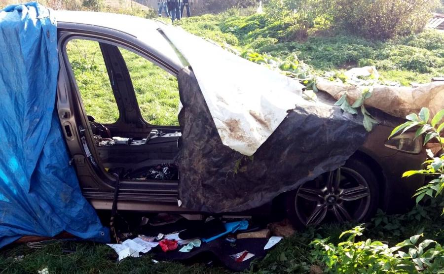 Limuzyna BMW, a raczej to co po niej znaleźli policjanci