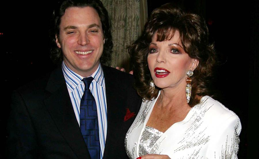 Joan Collins i jej syn Sacha Newley