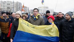 Protesty organizowane na ulicach Kijowa przez Micheila Saakaszwilego