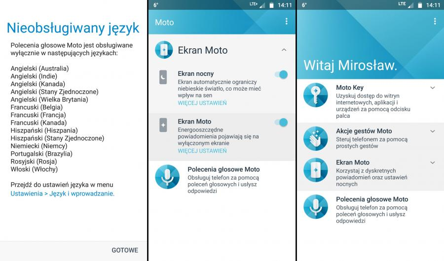 Motorola Moto X4 - aplikacja Moto