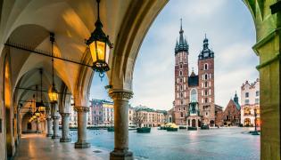 Kraków, widok na Bazylikę Mariacką