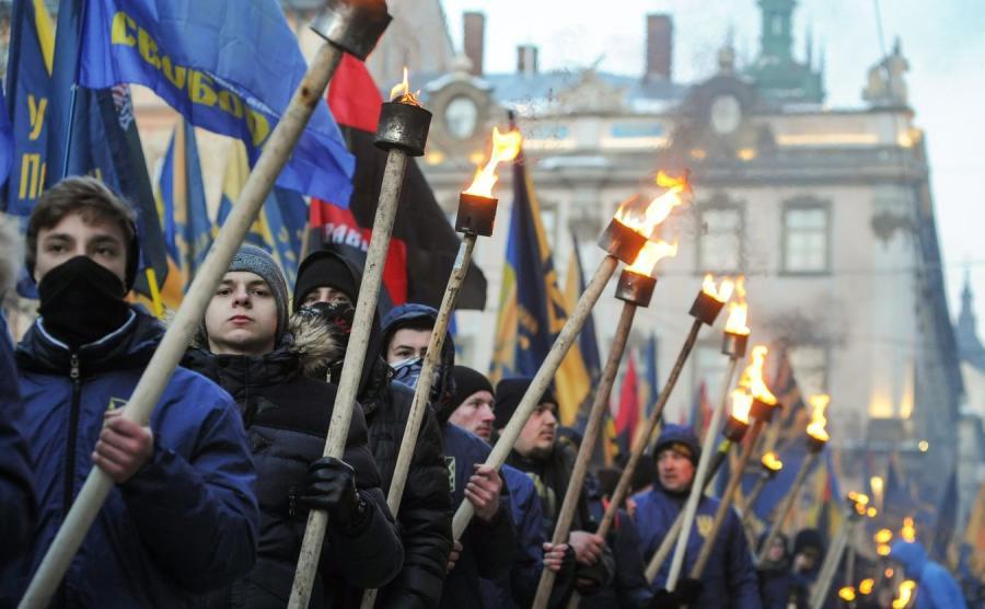 Demonstracja we Lwowie