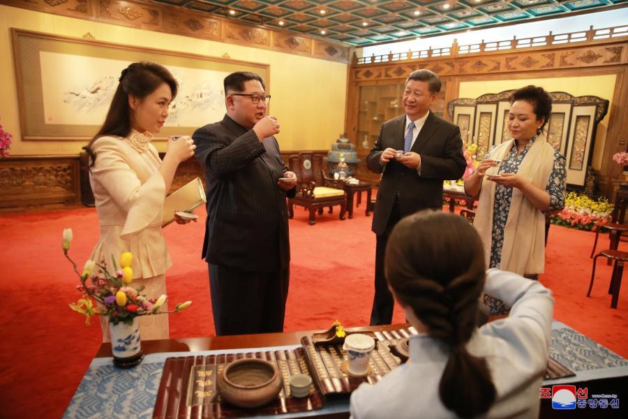 Kim Dzong Un z żoną w Chinach