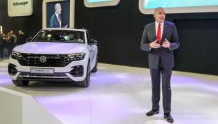 Jürgen Stackmann, wiceprezes marki Volkswagen zaprezentował nowego Touarega