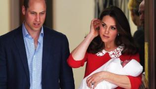 Książę William i księżna Catherine z nowo narodzonym synem