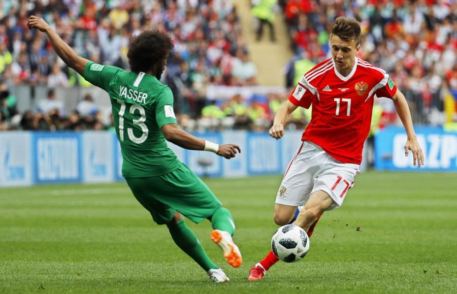 Aleksandr Golovin i Yasir Al-Shahrani