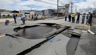Skutki trzęsienia ziemi w Japonii