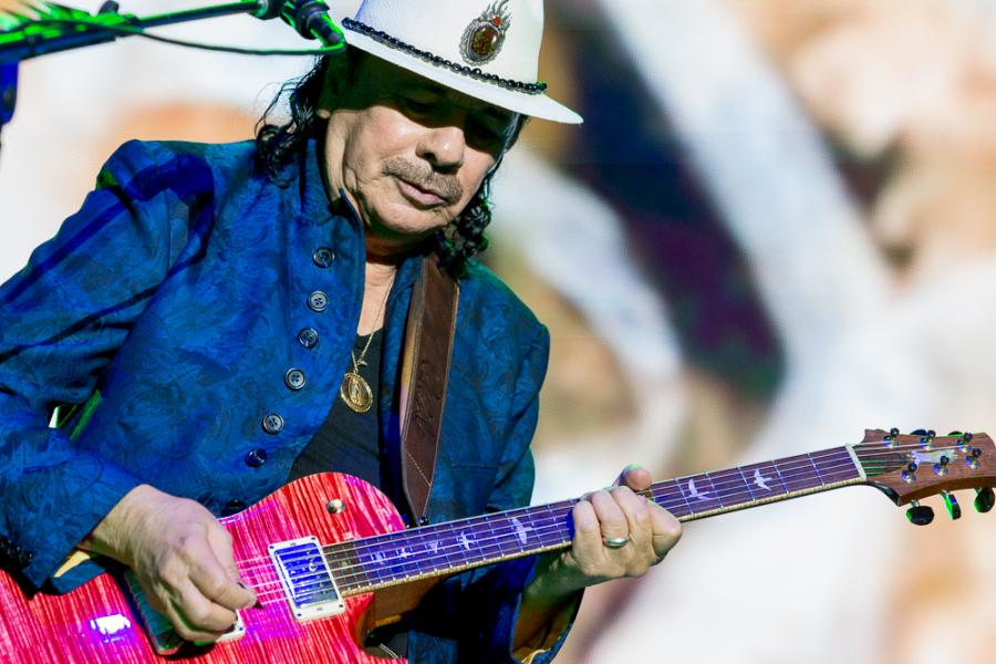 Carlos Santana na Life Festival Oświęcim. fot. Konrad Kubuśka