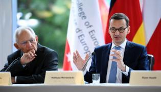Premier Mateusz Morawiecki i przewodniczący Bundestagu Wolfgang Schaeuble