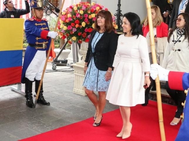Karen Pence i Rocio Gonzalez (pierwsza dama Ekawdoru)