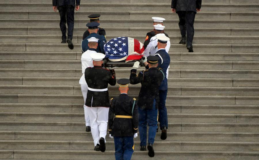 John McCain pożegnanie