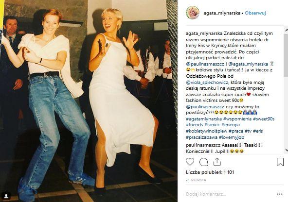 Agata Młynarska i Paulina Smaszcz-Kurzajewska / Instagram Agaty Młynarskiej
