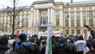 Warszawa - protest rolników w 2014 r.