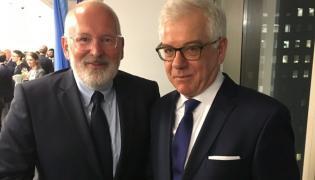 Frans Timmermans i Jacek Czaputowicz