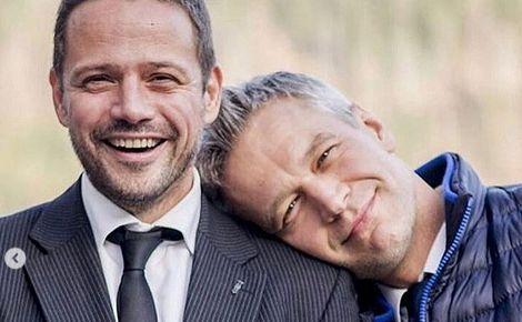 Rafał Trzaskowski i Michał Żebrowski