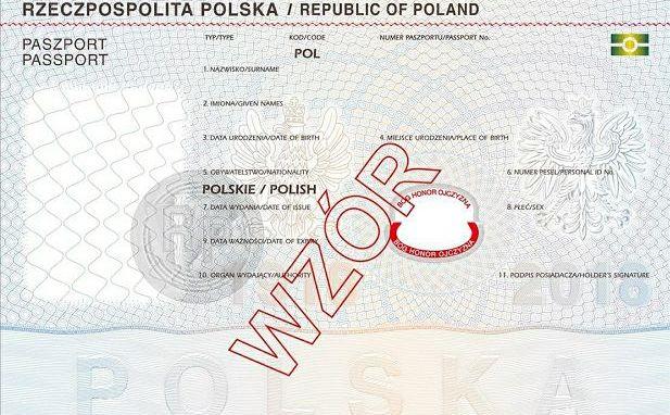 Nowy wzór paszportu z dewizą \