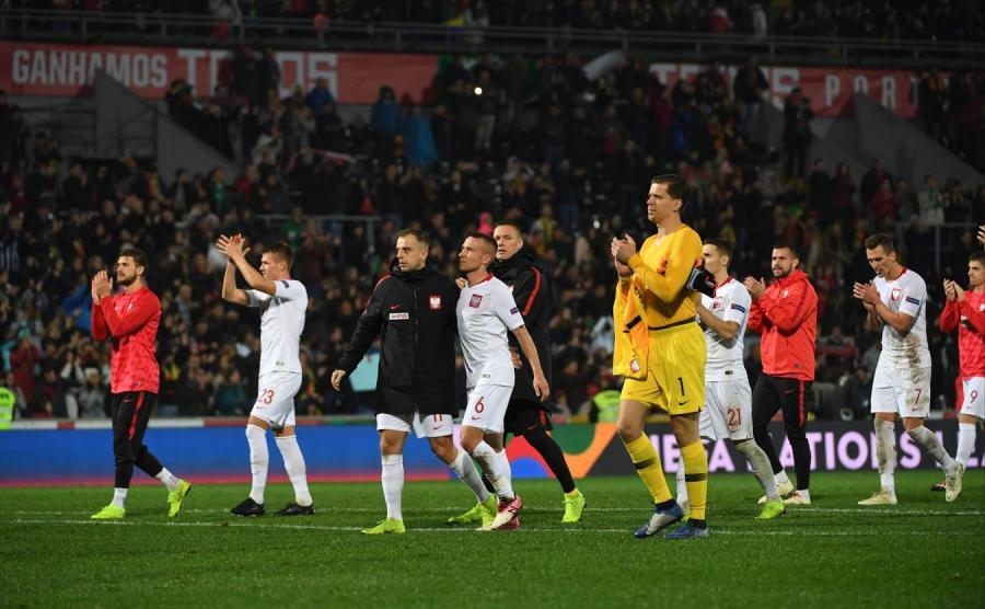 Reprezentacja Polski po meczu z Portugalią