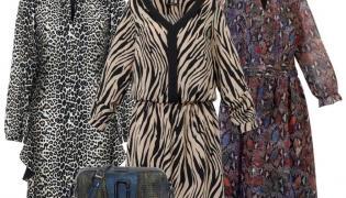 Modnie z polską metką. STYLIZACJA: sukienka w panterkę- Modern Line/modernline.pl, sukienka w zebrę- Trynite/trynite.pl, sukienka w węża- Midori Feminine Fashion/midori.pl, torebka- Boca/boca.pl