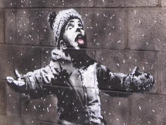 Nwe graffitti od Banksy\'go