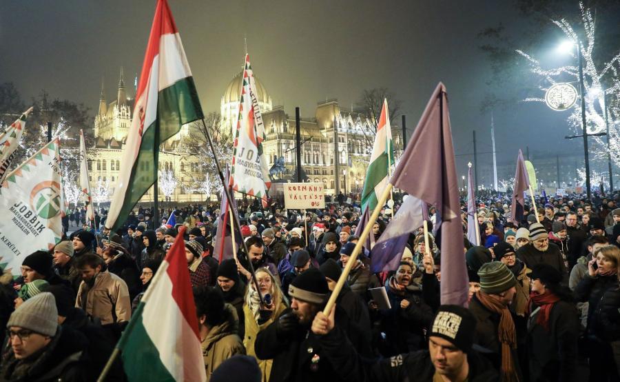 Demonstracja na Węgrzech