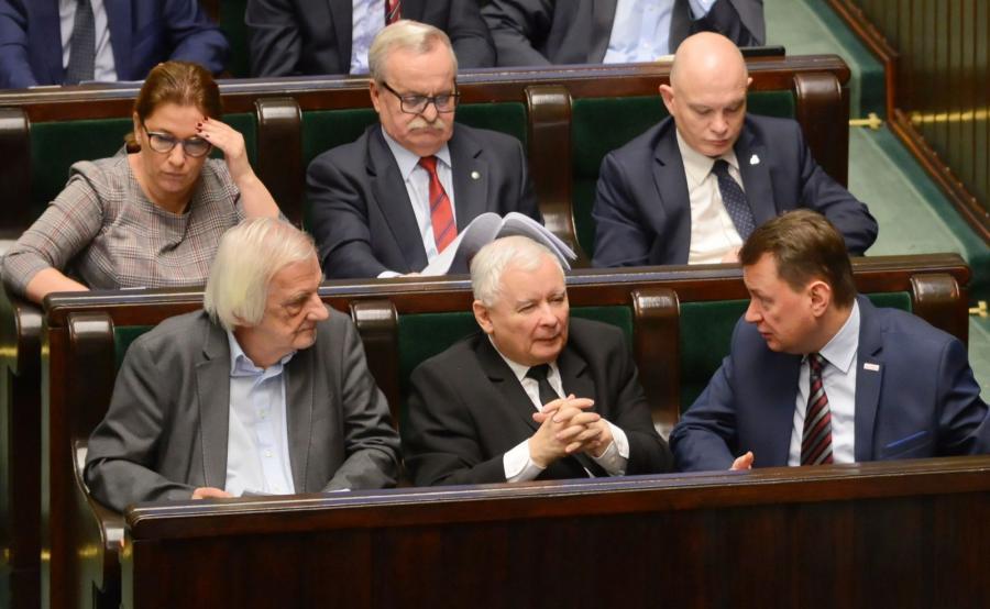 Politycy PiS na posiedzeniu Sejmu
