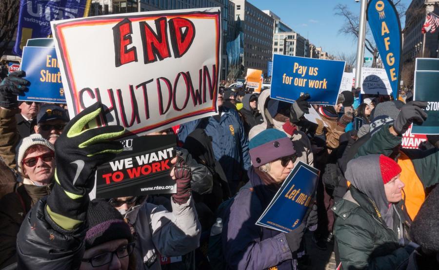 Protest urzędników w USA