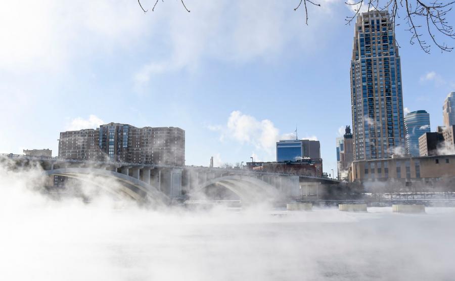 Parujące kanały w Chicago
