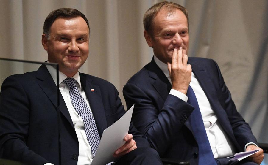 Andrzej Duda i Donald Tusk