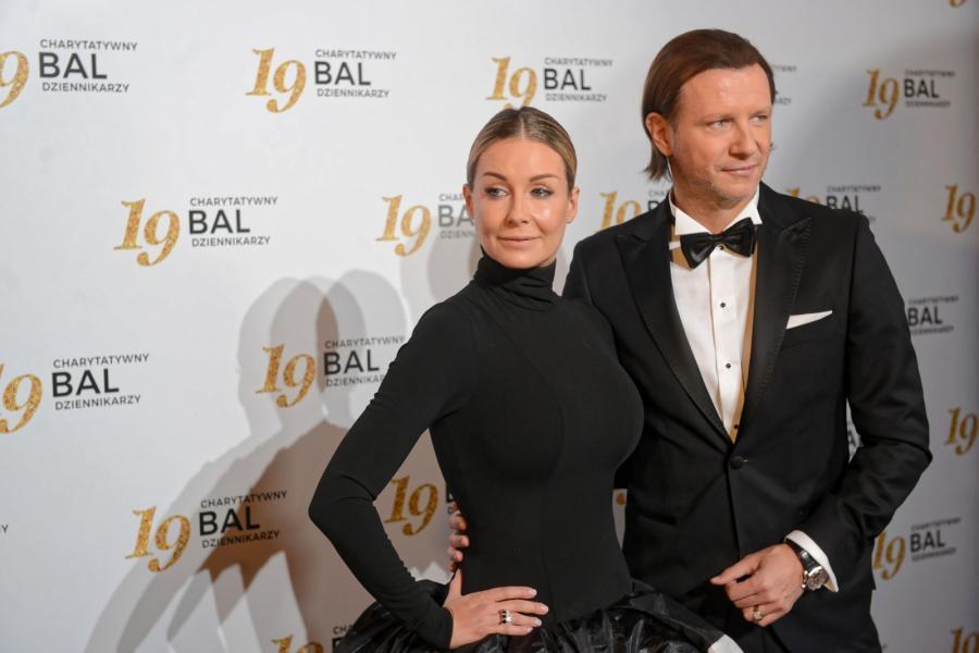 Prezenterka telewizyjna Małgorzata Rozenek-Majdan z mężem Radosławem Majdanem