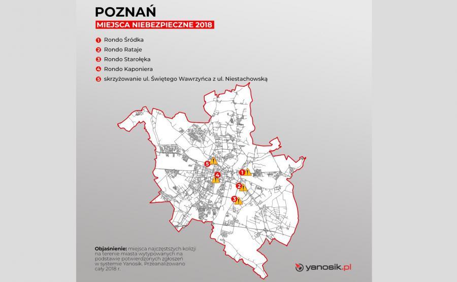 5 najbardziej niebezpiecznych miejsc w Poznaniu