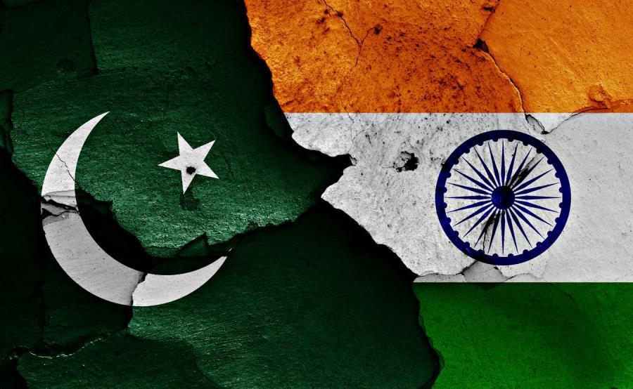 Flagi Indii i Pakistanu