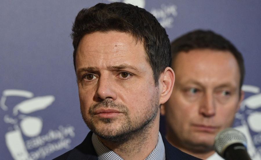 Prezydent m.st. Warszawy Rafał Trzaskowski  i wiceprezydent Paweł Rabiej