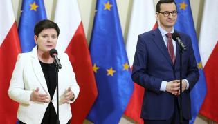Premier Mateusz Morawiecki i wicepremier, przewodnicząca Komitetu Społecznego Rady Ministrów Beata Szydło