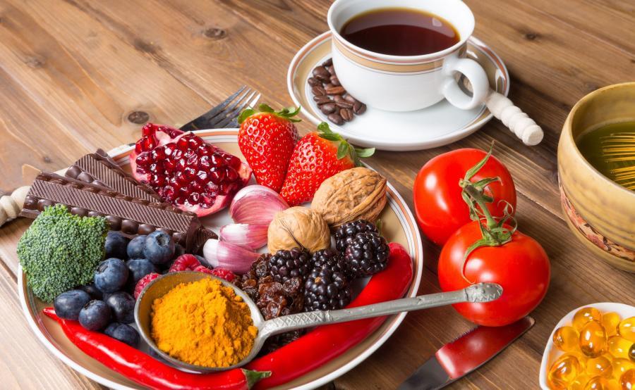 Kawa, owoce
