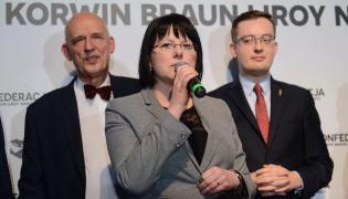 Kaja Godek, Janusz Korwin-Mikke i Robert Winnicki