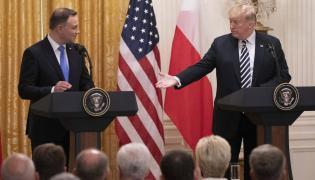 Pezydent Andrzej Duda i Donald Trump